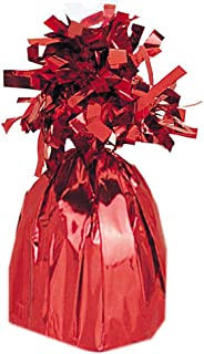 Unique Party Jumbo Foil Balloon Weight, Ruby Red