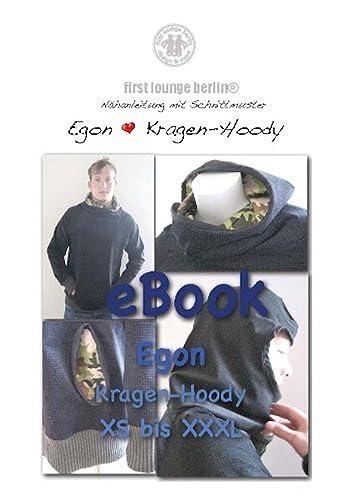 Egon Nähanleitung mit Schnittmuster für Sweater Gr. XS-XXXL für Männer Kapuzen-Pullover-Kragen-Hoodie [Download]