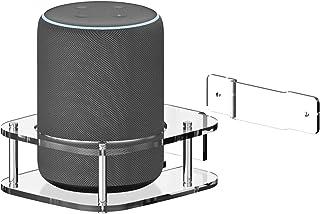 Echo Plus (第2世代) 対応 スピーカー スタンド、エコープラス(2世代)用アクリルウォールブラケット (透明だ)