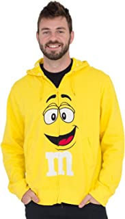 M&M's Zip up Adult Big Face Fleece Hoodie Sweatshirt