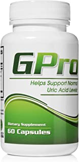 GPro Uric Acid Support Formula with Yucca, Garlic, Artichoke Powder, Milk Thistle (Silymarin), and Turmeric to Support Healthy Uric Acid Levels – 60 Capsules