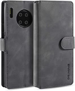 For Huawei Mate 30 Pro Retro Oil Side Horizontal Flip Case with Holder & Card Slots & Wallet New (Black) Lipangp (Color : Grey)