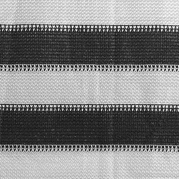 vidaXL Tapis de Tente Tapis de Camping Tapis d'Auvent de Caravane Patio Extérieur avec ¼illets Intégrés aux Quatre Coins 250x400cm Anthracite et Blanc