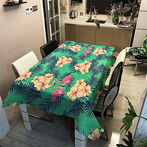 Efecto 3D-Patrón De Flores-Poliéster Mantel Rectangular Impermeable-Mantel Cuadrado-Mesa De Centro Mesa-Cocina-Decoración De Sala De Estar-Picnic Al Aire Libre Camping 100x140cm