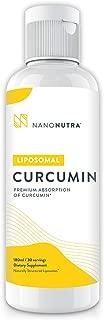Liposomal Curcumin by NanoNutra - The Most Advanced Natural Turmeric Curcumin   Utilizing Sunflower Lecithin Liposomes for Dramatically Increased Absorption   Natural Anti-Inflammatory & Detox Support