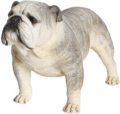 Petorama 100% Handmade Hand Painted Collectible Grade Premium Figurine Gift Lifelike Realistic English Bulldog Statue 1:4 (3)