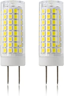 LED GY8.6 Bulb, All-New 7W T4 G8 LED Bulb, 75W Halogen Bulb Replacement, GY8.6 Bi-pin Base Light Bulb, AC120V, for Under Counter Kitchen Lighting, Light Fitting, 2-Pack (Daylight White)