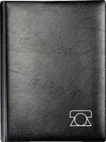 BRUNNEN 106434090 Telefonringbuch/-mappe (A5, 18 x 23,5 cm, 26-teilig) schwarz