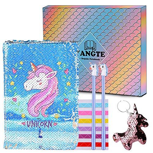 Einhorn Notizbuch,Magisches Pailletten Journal DIY Meerjungfrau Reversible Pailletten Notizbuch und...