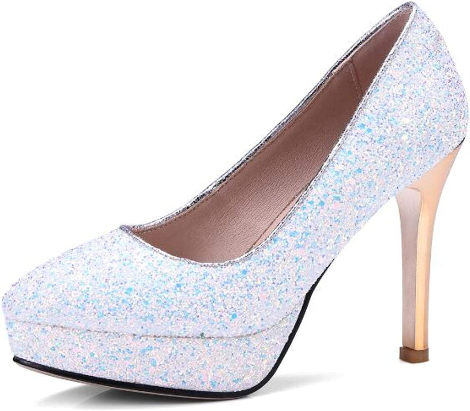 High Heels Wedding Party shoes Sequined Stilettos