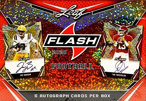 2020 Leaf Flash Football box (FIVE Autograph cards)