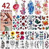 42 Sheets Flowers Temporary...