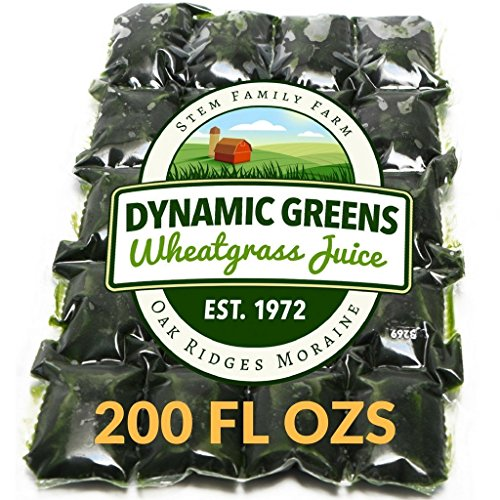 Dynamic Greens Wheatgrass Juice - 200 Fl Ozs - Just $1.65 Per Oz - 100% Wheatgrass Juice - Field Grown - Flash Frozen - Unpasteurized - 400 x 0.5 Fl Oz Portions