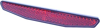 Motorrad Reflektor hinten rot 6 eckig 125x18mm selbstklebend Rückstrahler Katzenauge Roller Quad E geprüft