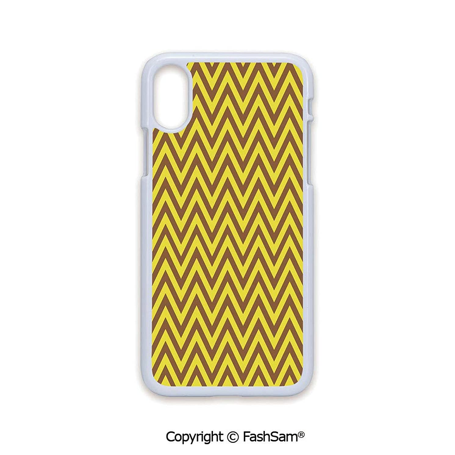 Plastic Rigid Mobile Phone case Compatible with iPhone X Black Edge Vintage Graphic Country Design Classical Tile Old Fashioned Pattern Print Decorative 2D Print Hard Plastic Phone Case