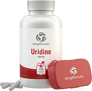 Uridine Monophosphate 300mg - 120 Vegetarian Capsules | Made In Usa | Choline Enhancer | Supports Cholinergic Brain & Memo...