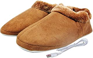 USB Heated Slipper Foot Warmers, Heating Slippers Shoes Laptop Computer Warm Shoes for Women Men Girls Boys