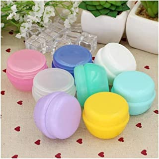 5Pcs/Lot Mini Empty Jar Pots Cosmetic Makeup Inner Lid Face Cream Lip Balm Container My Refillable Bottles Wholesale (Color : Yellow, Size : 10g)