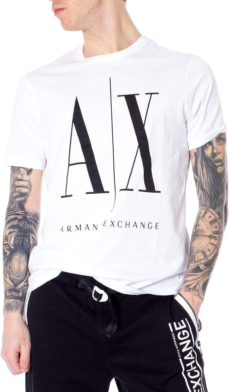 Armani Exchange Men's 8NZTPAZJH4Z1100 White Cotton T-Shirt