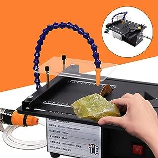 Jade Grinding Machine, Jewelry Jade Polishing Machine, 7-Speed Adjustable Chisel Carving Machine, 110V Electric Gem Engraving Cutting Milling Bench Grinder Table Saw Polisher Set