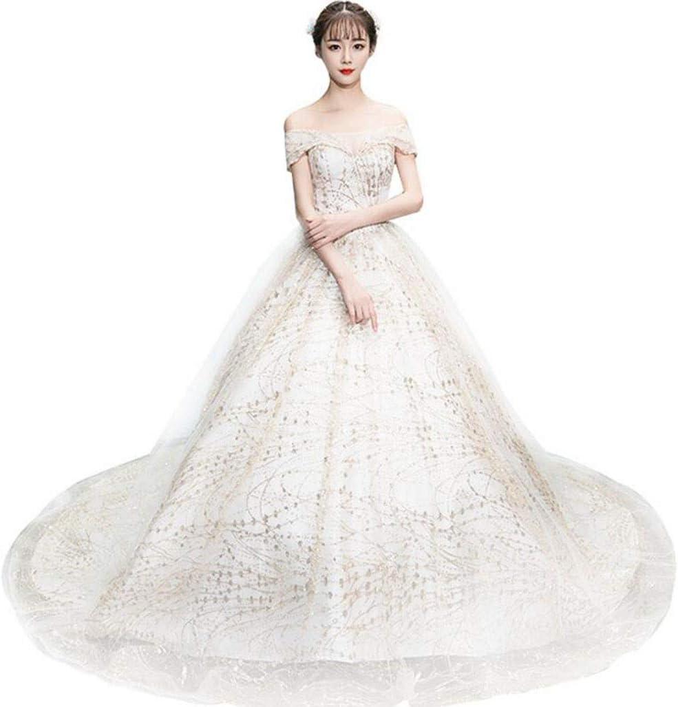 Amazon.com DAFREW Bridal Wedding Fashion Word Shoulder Sexy Tube ...