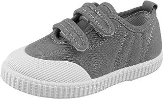 17eaf5dcbdf Boys  Girls  School Shoe Kids Lightweight Canvas Casual Low Top Sneakers  Slip-On