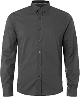 Brave Soul Mens Plain Tudor Long Sleeved Shirt