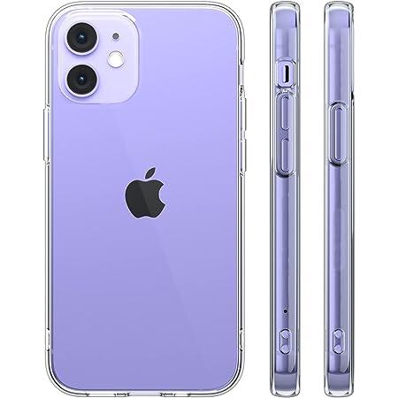 Highend berry iPhone12 Mini ケース TPUソフトケース カメラレンズ保護 耐衝撃 スマホケース ストラップホール付き クリア