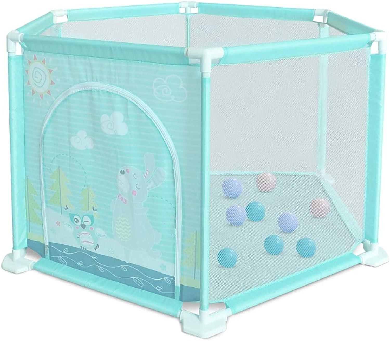 Baby Playpen Safety Playard Freestanding Playard Portable Infant Playard Airy Mesh Play Yard Nursury Center Play Yard (Size   With 10 balls)