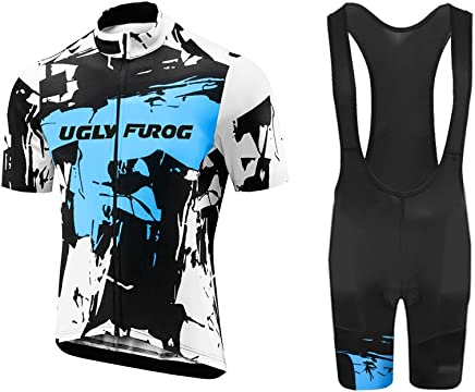 1e7114743 Uglyfrog Men s Cycling Jersey Short Sleeve Quick-Dry Shirt and 3D Padded  Shorts Set DM9