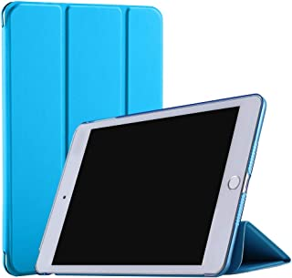 DuraSafe Cases for iPad PRO 12.9 Inch 2 Gen - 2017 [ A1670 A1671 ] Smart Cover with Transparent Back - Blue (Auto Sleep/Wake)