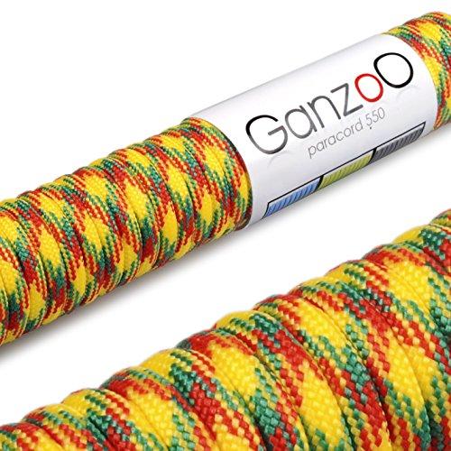 Ganzoo Paracorde 550 Corde, pour Bracelet ou Collier de Chien, 31 mètres, coloré
