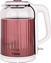 ELECTRIC KETTLE 1.8 LITERS GLASS & S/S COLOR: WHITE & ROSE