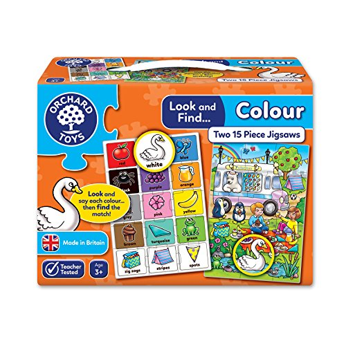 Orchard Toys puzzel Look and Find Colour – 2 puzzels in een doos