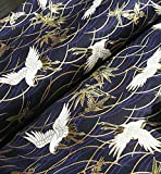 1 Fat Quarter (48 cm x 55 cm) marineblau japanische 100%