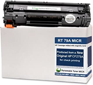Renewable Toner Modified MICR Cartridge Replacement for HP 79A CF279A LaserJet PRO M12 MFP M26 (500 Page Starter Yield)
