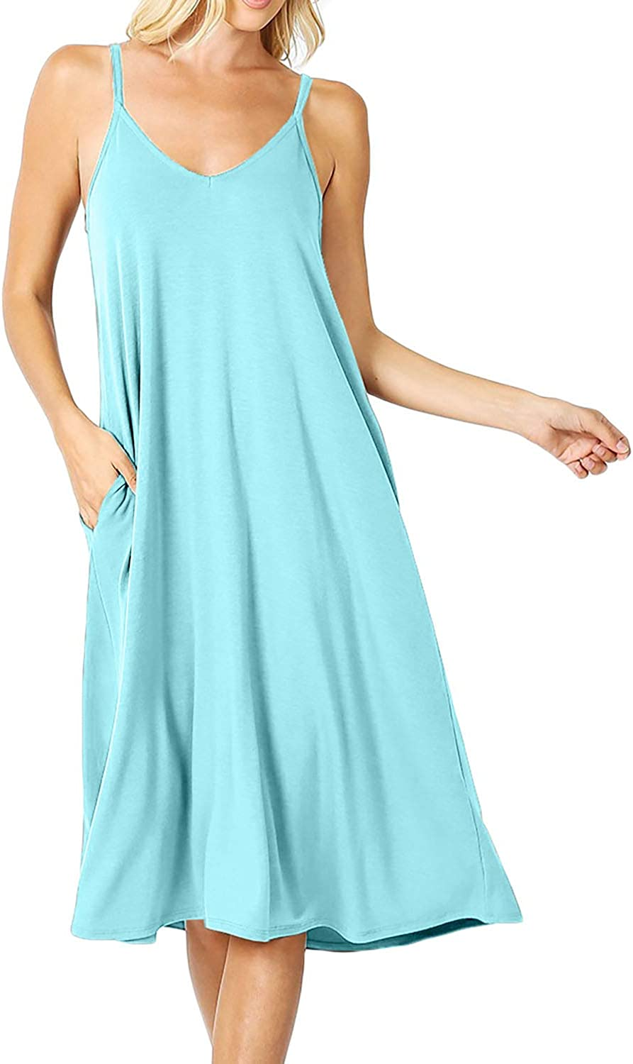 Dress for Women's Same day shipping Premium V-Neck Cami Length Brand new with Side Knee Pock