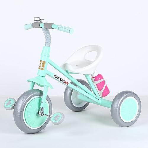 Fenfen Kinder Dreir r 2-6 Jahre alt Baby fürrad Spielzeug Autos Junge Kinder fürr r, Rosa, Schwarz Cyan, Grün (Farbe   Blau)