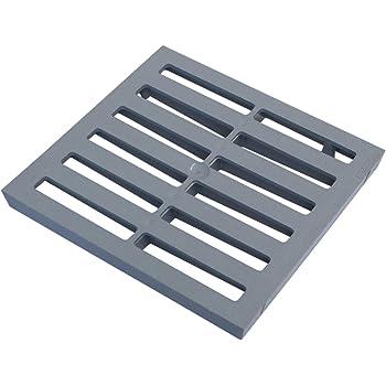 Reiben wie Gusseisen 25,4/cm Zoll Vierkant massiv Metall Stahl Gully Grid Heavy Duty Ablauf st/ärker