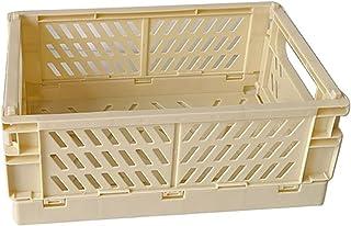 Boîte de rangement Pliant pliage Pliage Pliage Boîte de rangement Panier Conteneur de bureau de bureau (Color : Yellow)