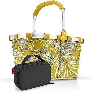 reisenthel, Set aus carrybag BK, thermocase OY, SBKOY, Einkaufskorb mit Kleiner Kühltasche, Jungle Curry + Black