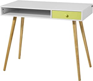 SoBuy® FWT24-W Bureau Console Ordinateur Table d'appoint Secrétaire Informatique - 1 tiroir