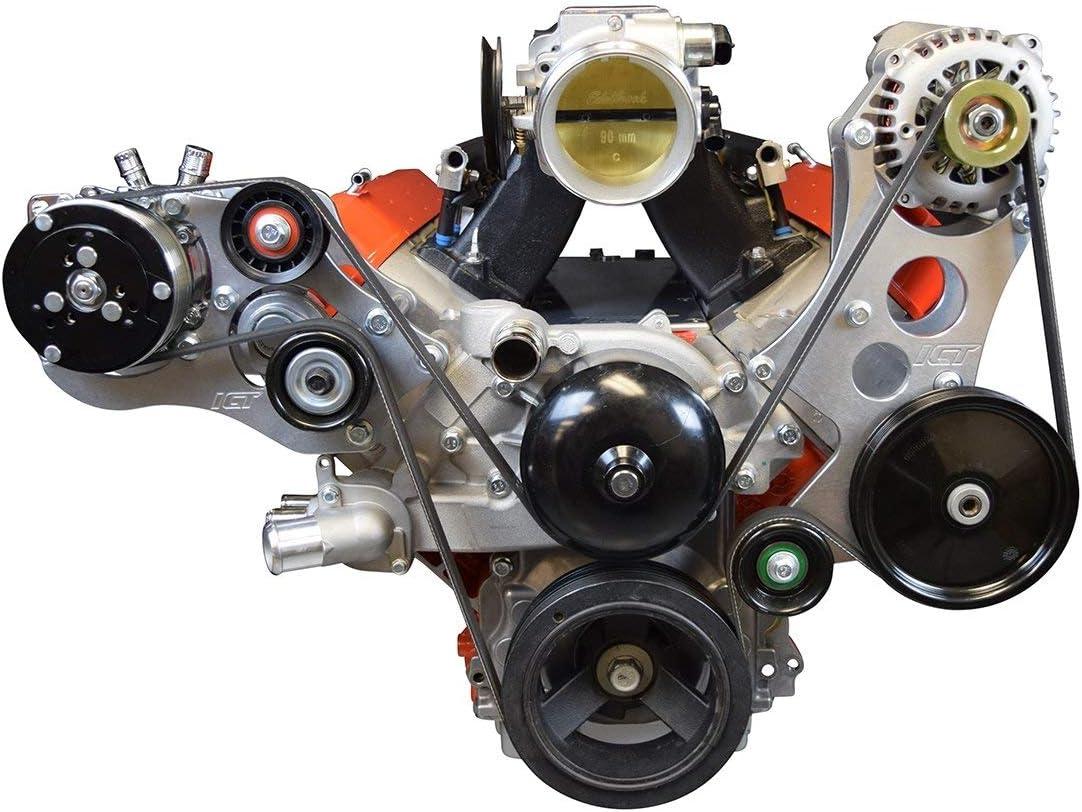 ICT Billet High Mount New Shipping Free LS Alternator Max 45% OFF Power Bracke Steering Pump