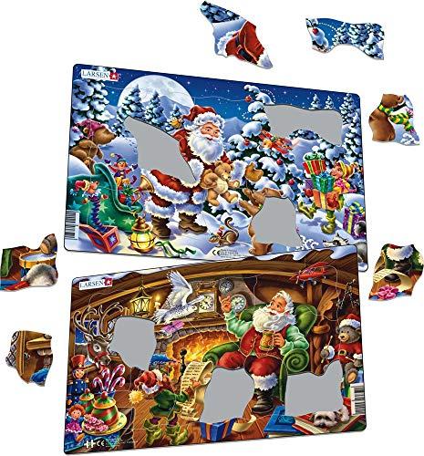 Puzzle (2 x 15 Piezas), diseño de Papá Noel (7023852118955)