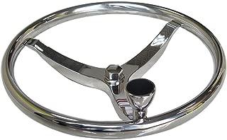 "15-1//2/"" Boat Yacht Stainless Steel Steering Wheel with 5//8/"" Nut /& Knob Kunrling"