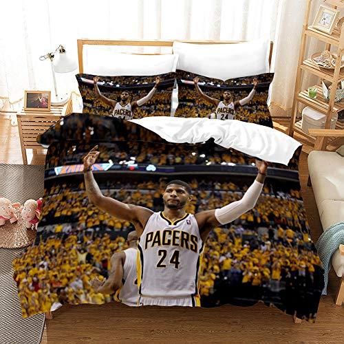 FAIEK Duvet cover Solid color bed linings basketball fan Basketball 24,Super King 220X240CM