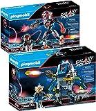 PLAYMOBIL Galaxy Pirates Set de 2 Juegos 70021 70024 Policía Robot + Piratas Robot