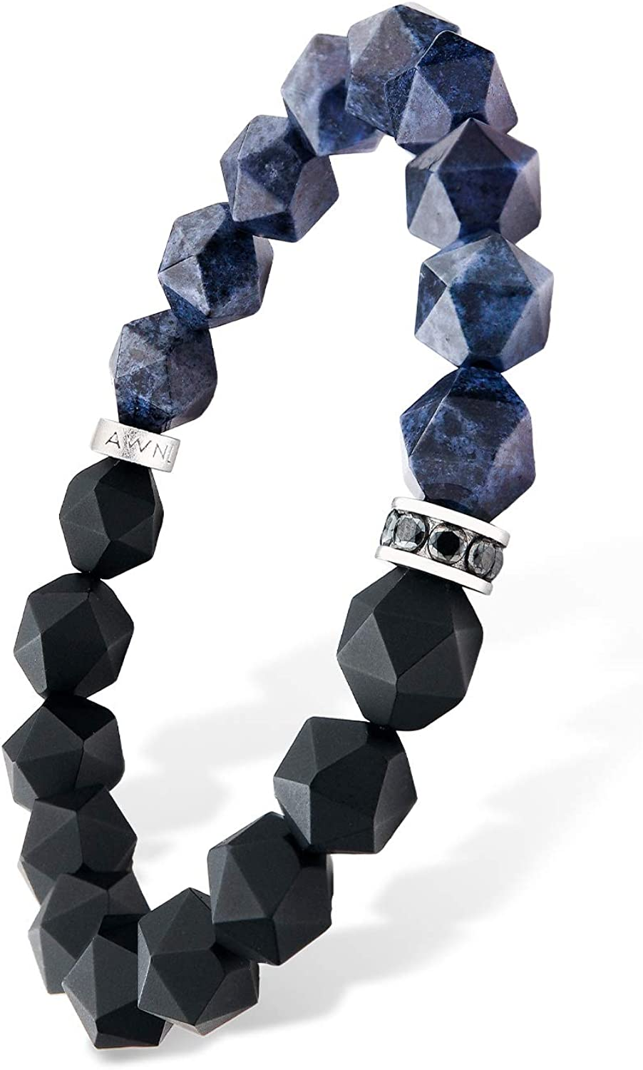 AWNL 10mm Beaded Financial sales sale Bracelet with Black Onyx Dumortierite Blue Nippon regular agency and