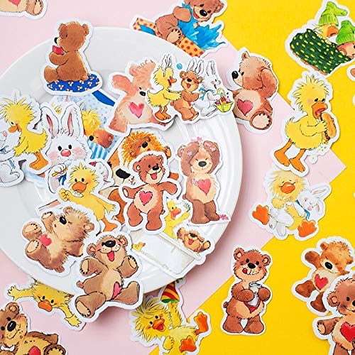 40pcs/pack Cute kawaii bear Decorative Sticker DIY Planner diary Scrapbooking album Stickers
