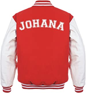 Stars & Stripes Custom Initial Varsity Jacket, Personalised Varsity Jacket, Letterman College Jacket Printed Varsity Jacket